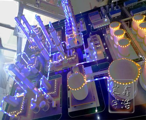 北京鑫浩宸宇模型--废矿物油再生利用流程演示沙盘模型